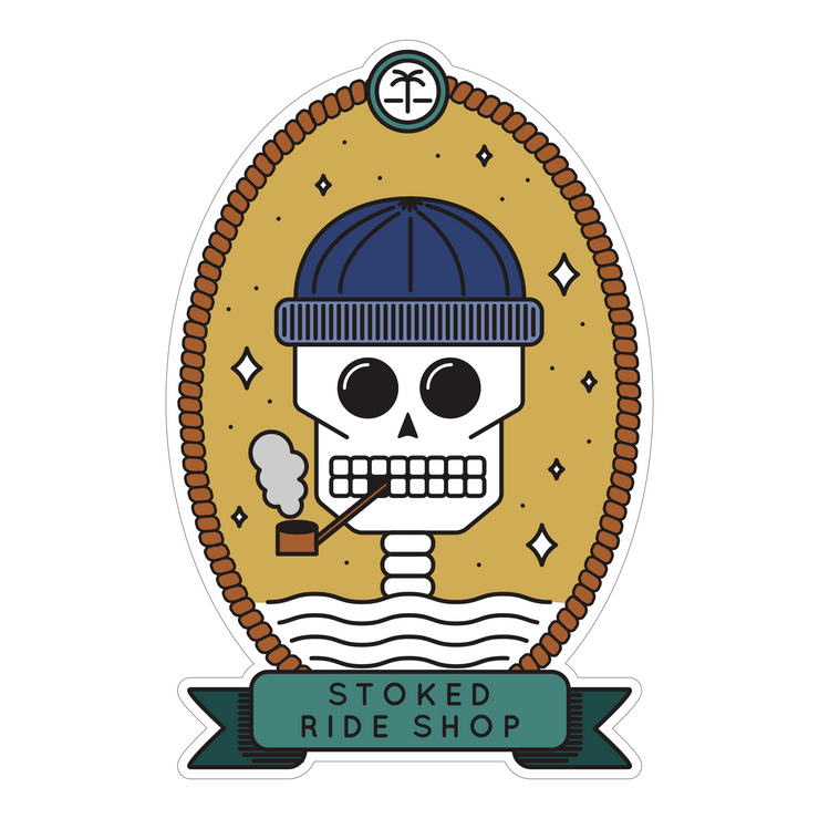 "Stoked Ride Shop ""Smoking Kills"" Sticker by Spring Break Jake"