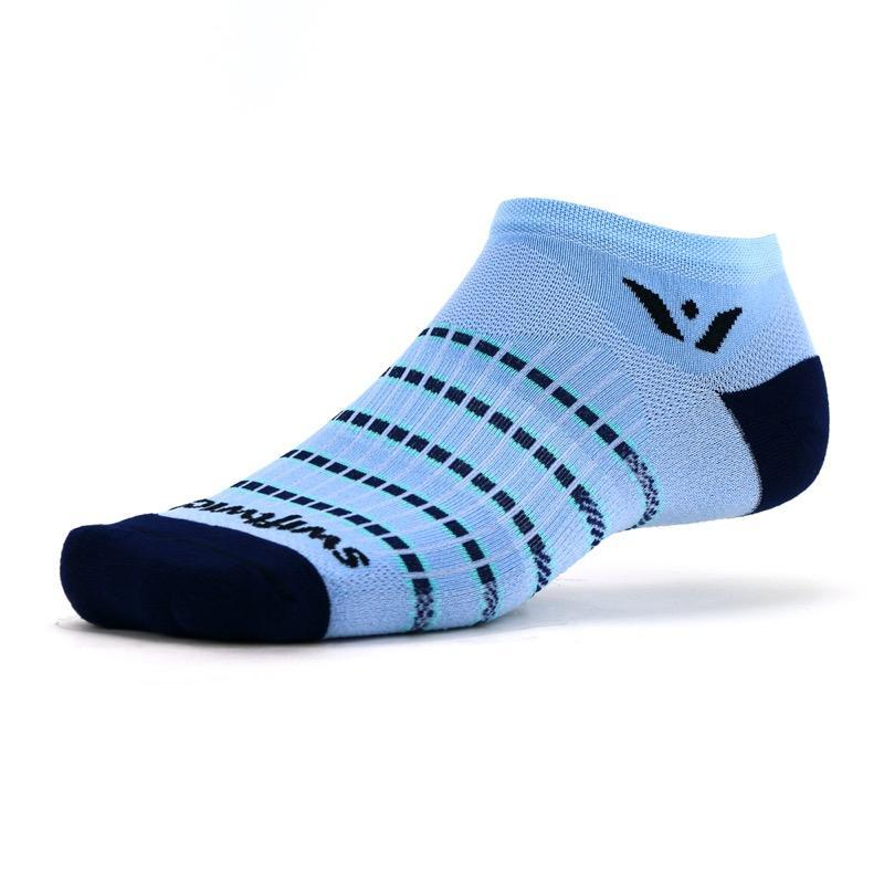 Swiftwick Aspire Zero Stripe Sky Blue/Navy Sock
