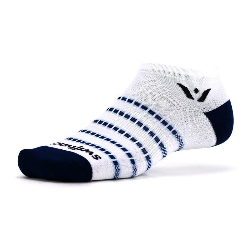 Swiftwick Aspire Zero Stripe White/Navy Sock