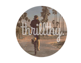 thrillthy Retro Vibes Round Sticker 3