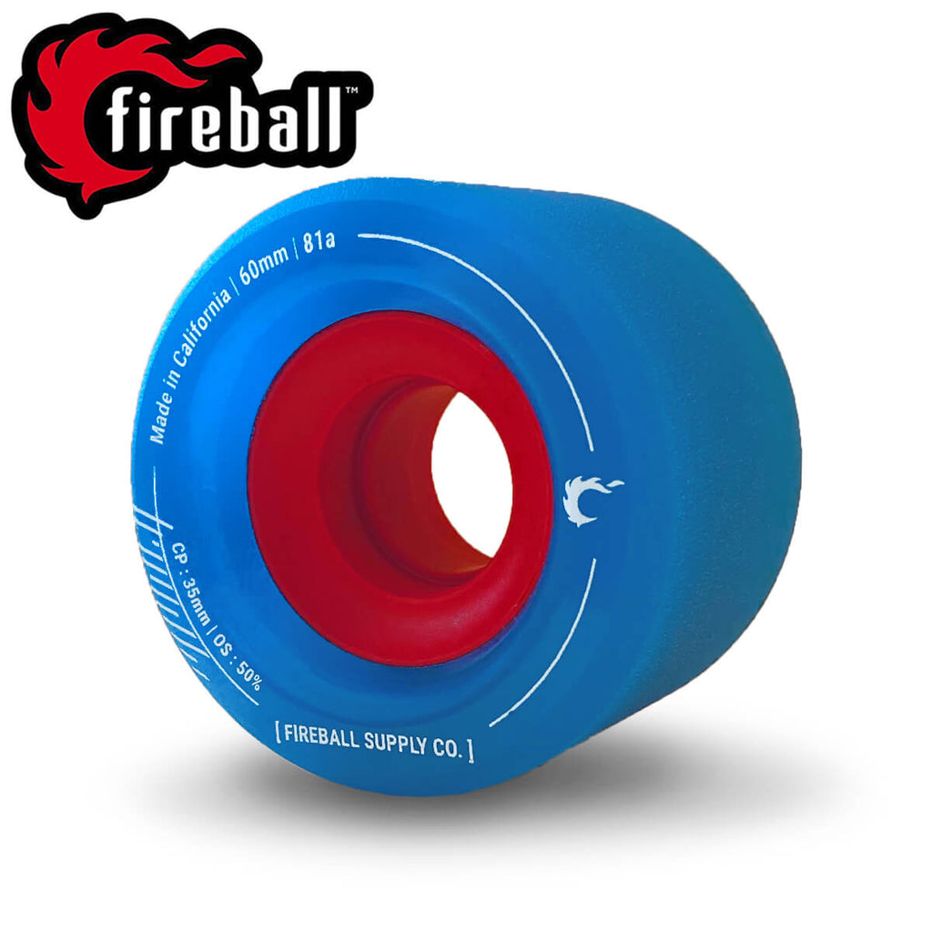 Fireball Tinder 60mm 81a Wheel Set, Blue
