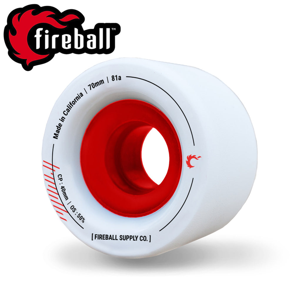 Fireball Tinder 70mm 81a Wheel Set, White