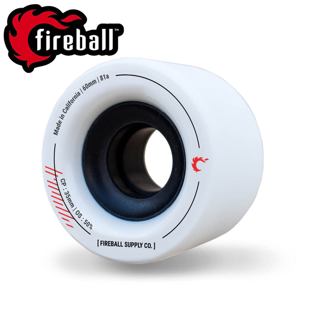 Fireball Tinder 60mm 81a Wheel Set, White