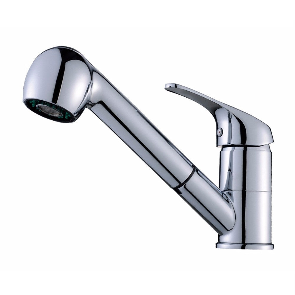 North River Pull Out Kitchen Faucet (Brushed Nickel & Chrome ...
