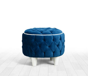"Ottoman Pouf Amy Oil Green 15"" x 16,5"" inches"