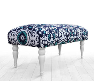 "Blue Bench Ethnic 16,9"" x 15,7"" x 31,4"" inches"