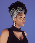 Blue African Print Head wrap