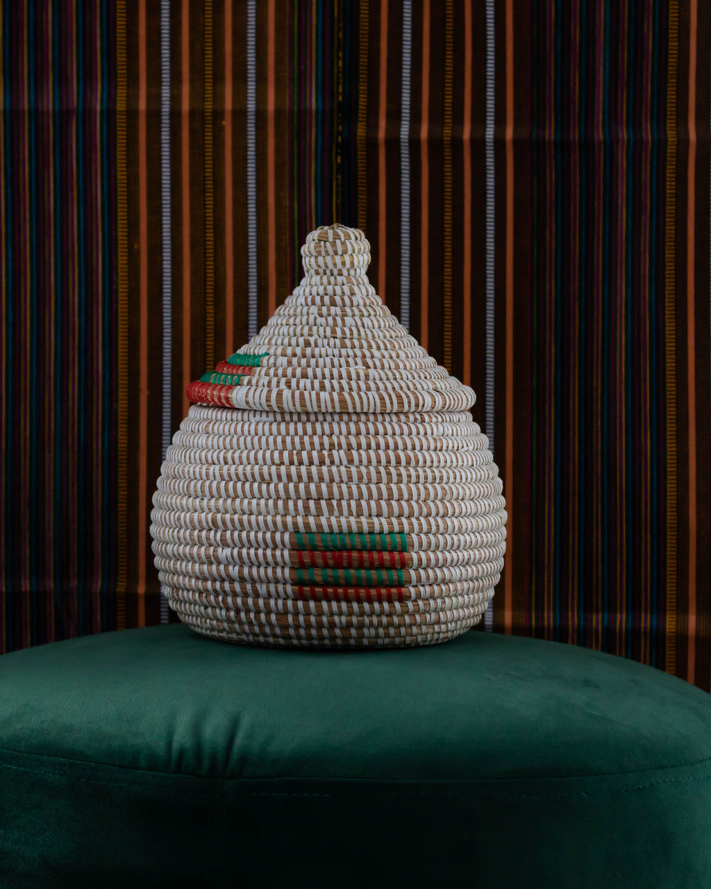 Salt basket bag, handmade colourful basket bag Sénégal, maison petite & bold baskets