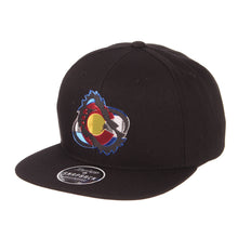 Avalanche Colorado Flag Chrome Foot Logo Snapback