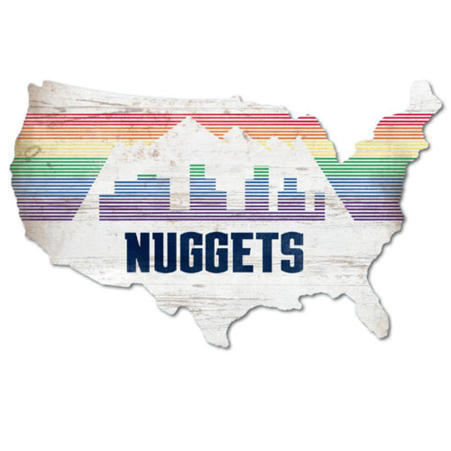 Nuggets Nation City Edition USA Wood Sign