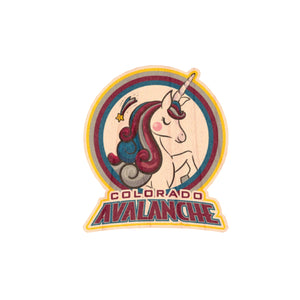 Avalanche Unicorn Wood Sticker