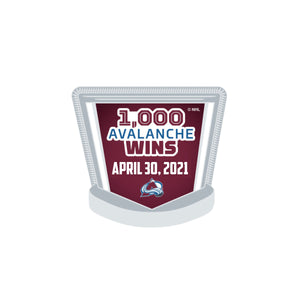 Avalanche 1,000 Wins Lapel Pin