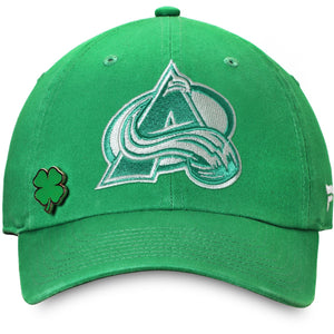 Colorado Avalanche St Patrick's Day Adjustable Hat