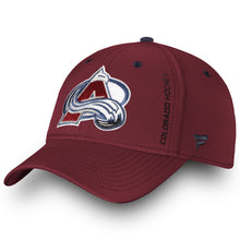 Avalanche Authentic Rink side Flex Fit Hat - Burgundy