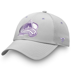 Avalanche 2019 Hockey Fights Cancer Adjustable Hat