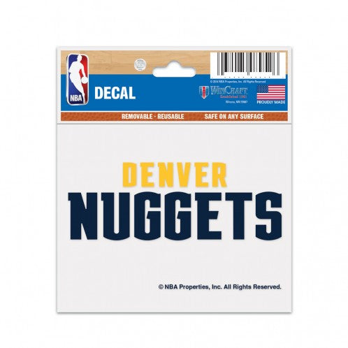 Nuggets 3x4 Wordmark Decal
