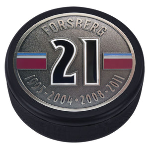 Colorado Avalanche Retired Player Medallion Puck