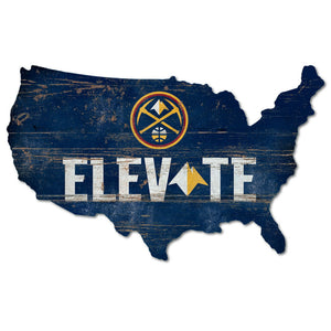 Nuggets Nation Elevate USA Wood Sign