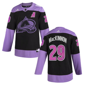 Avalanche 2021 Hockey Fights Cancer Player Jerseys