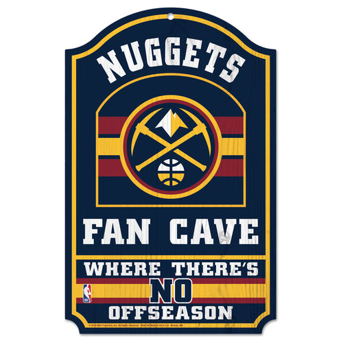 2018-19 Denver Nuggets Fan Cave Sign