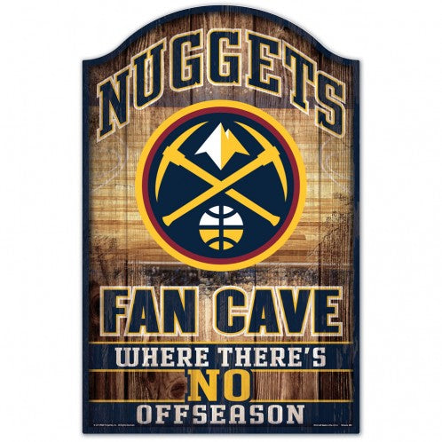 Nuggets Fan Cave Wood Sign