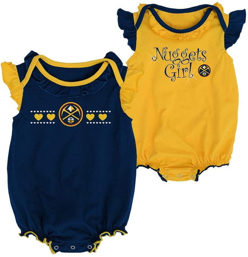 Nuggets Girls 2-Pack Creeper Set