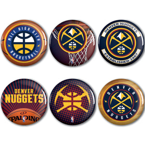 2018-19 Denver Nuggets Buttons 6 Pack