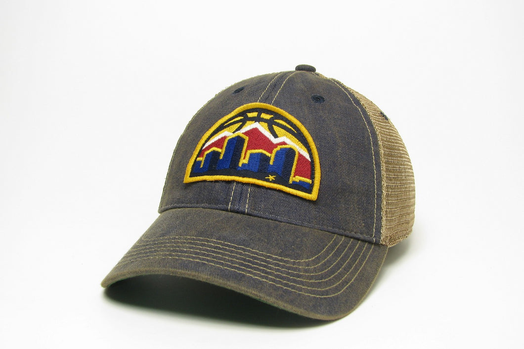 Nuggets New Skyline Adjustable Mesh Hat - Navy
