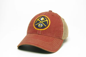 Nuggets Primary Logo Adjustable Mesh Hat - Cardinal