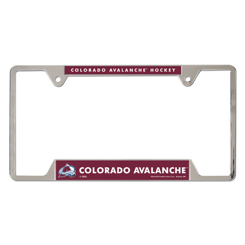 Avalanche Metal License Plate Frame
