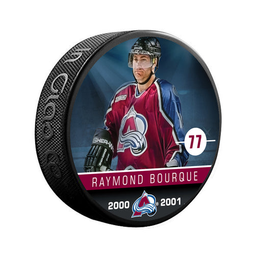 #77 Raymond Bourque Retired Player Puck