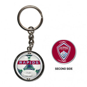 Colorado Rapids Spinner Key Ring