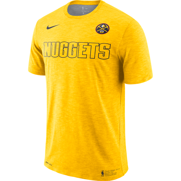 Nuggets 2019 S/S Facility Logo Tee - Gold