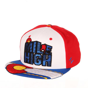 Avalanche Mile High CO Flag Snapback