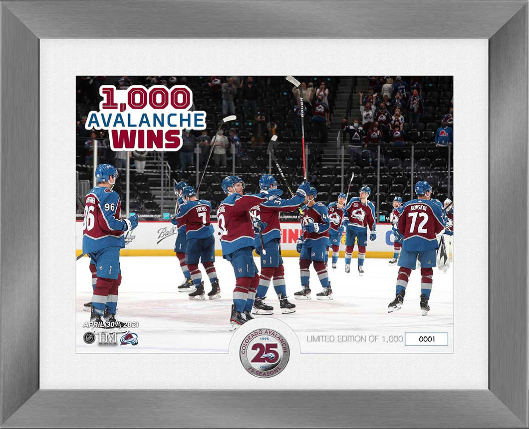 Avalanche 1,000 Win Arena Limited Edition Framed Photo