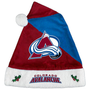 Colorado Avalanche Santa Hat