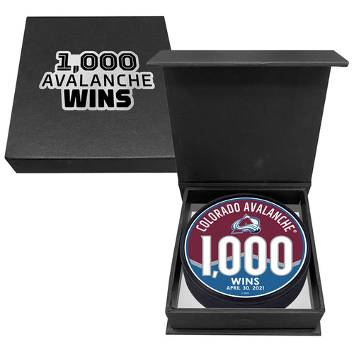 Avalanche 1,000 Wins Puck