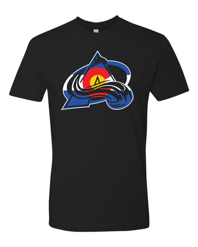 Avalanche Colorado Flag A Logo Tee
