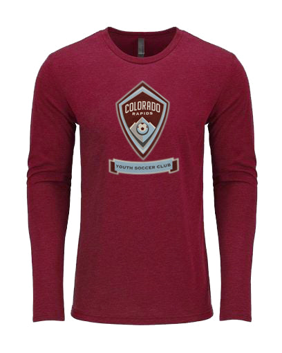 Adult CRYSC Burgundy Long Sleeve Tee