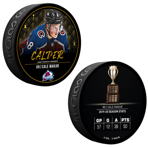 #8 Cale Makar Calder Memorial Trophy Winner Puck