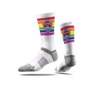 Colorado Rapids Pride Socks - White