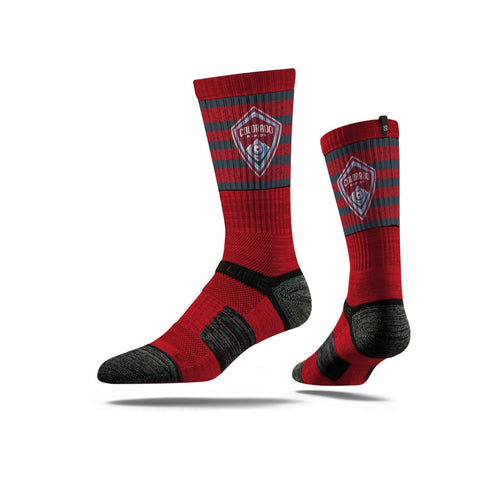 Colorado Rapids Burgundy Striped Socks