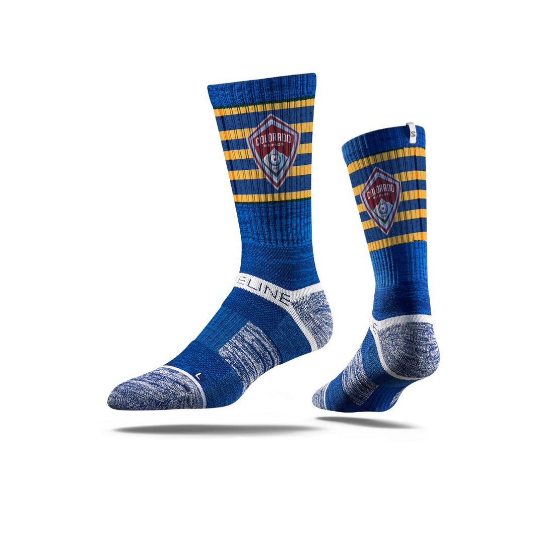 Colorado Rapids Royal Striped Socks