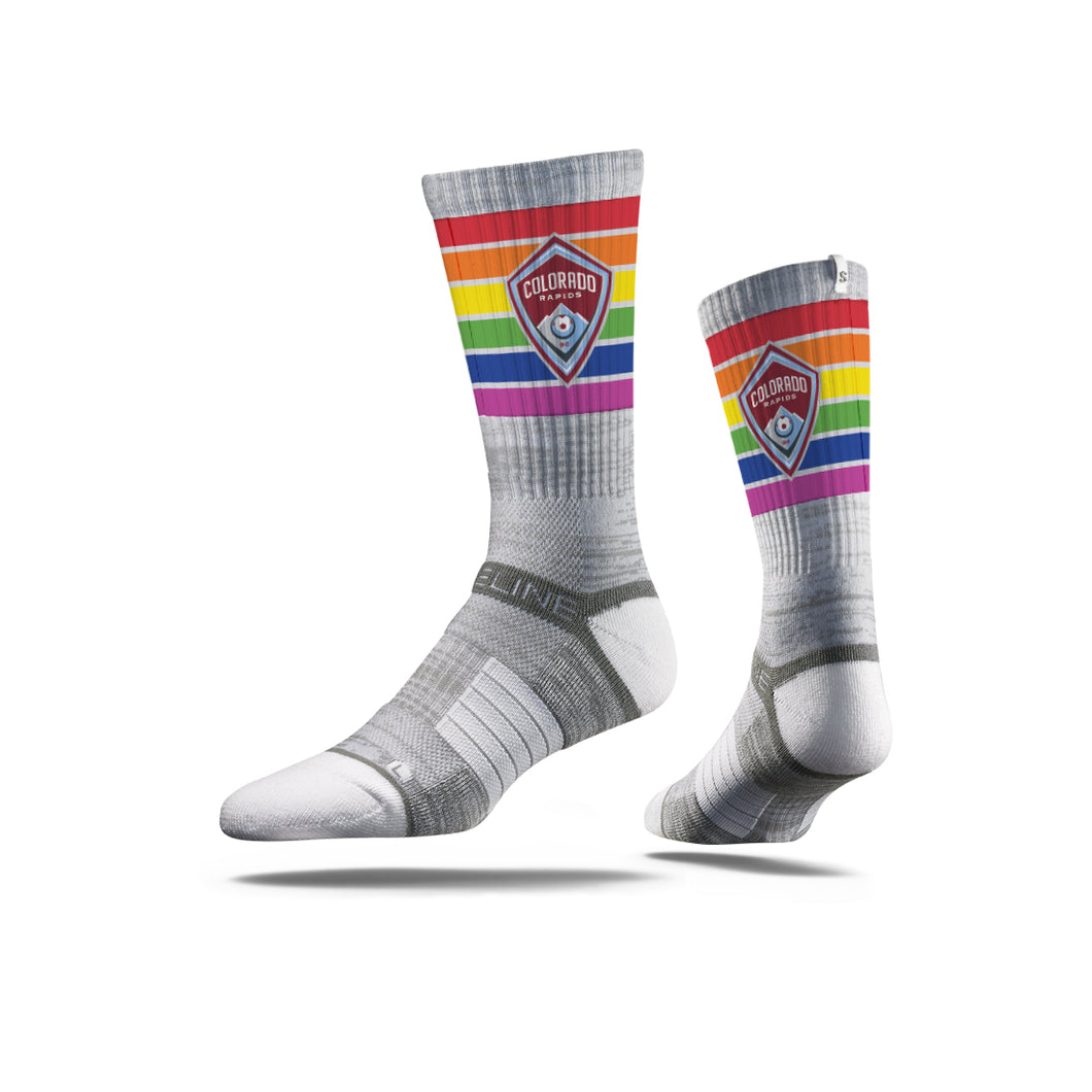 Colorado Rapids Pride Socks - Grey