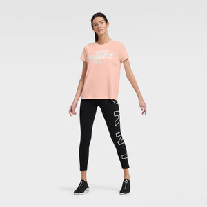 Denver Nuggets DKNY Abigail Tee - Rose