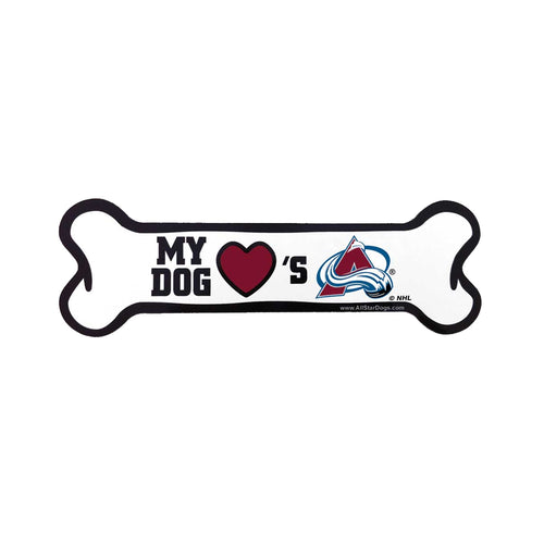 Colorado Avalanche Dog Bone Car Magnent