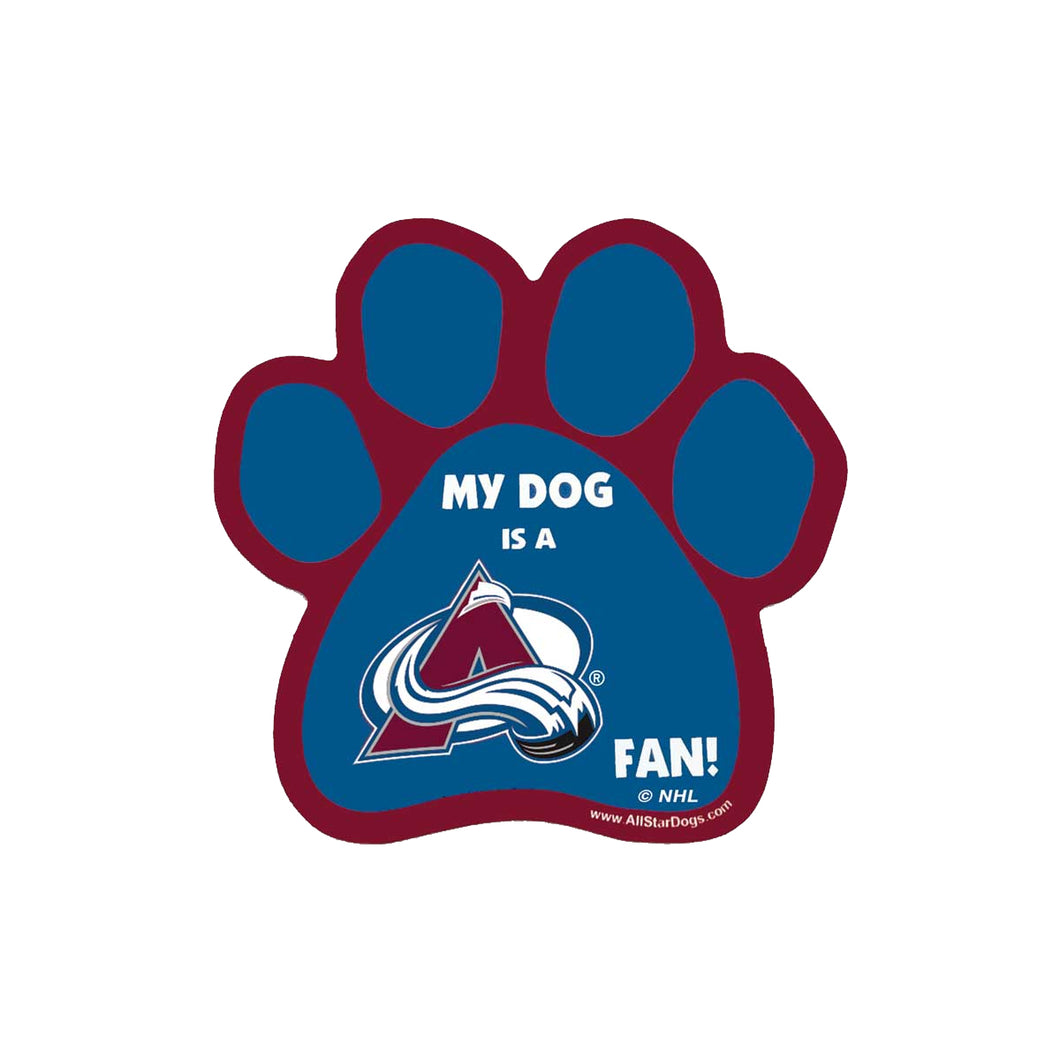 Colorado Avalanche Dog Paw Car Magnent