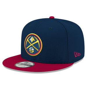 Nuggets Cardinal & Navy Primary Icon 9FIFTY Snapback