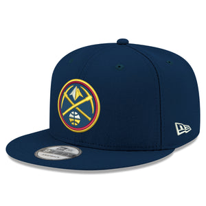 9236b4cef6537 Nuggets Navy Primary Icon 9FIFTY Snapback