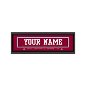 Customizable Framed Colorado Rapids Youth Soccer Club Jersey Stitch Print